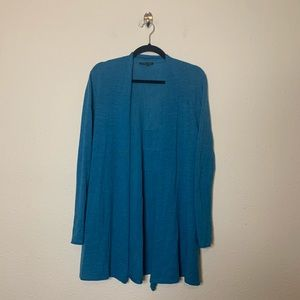 Eileen Fisher Wool Open Drape Cardigan Sweater